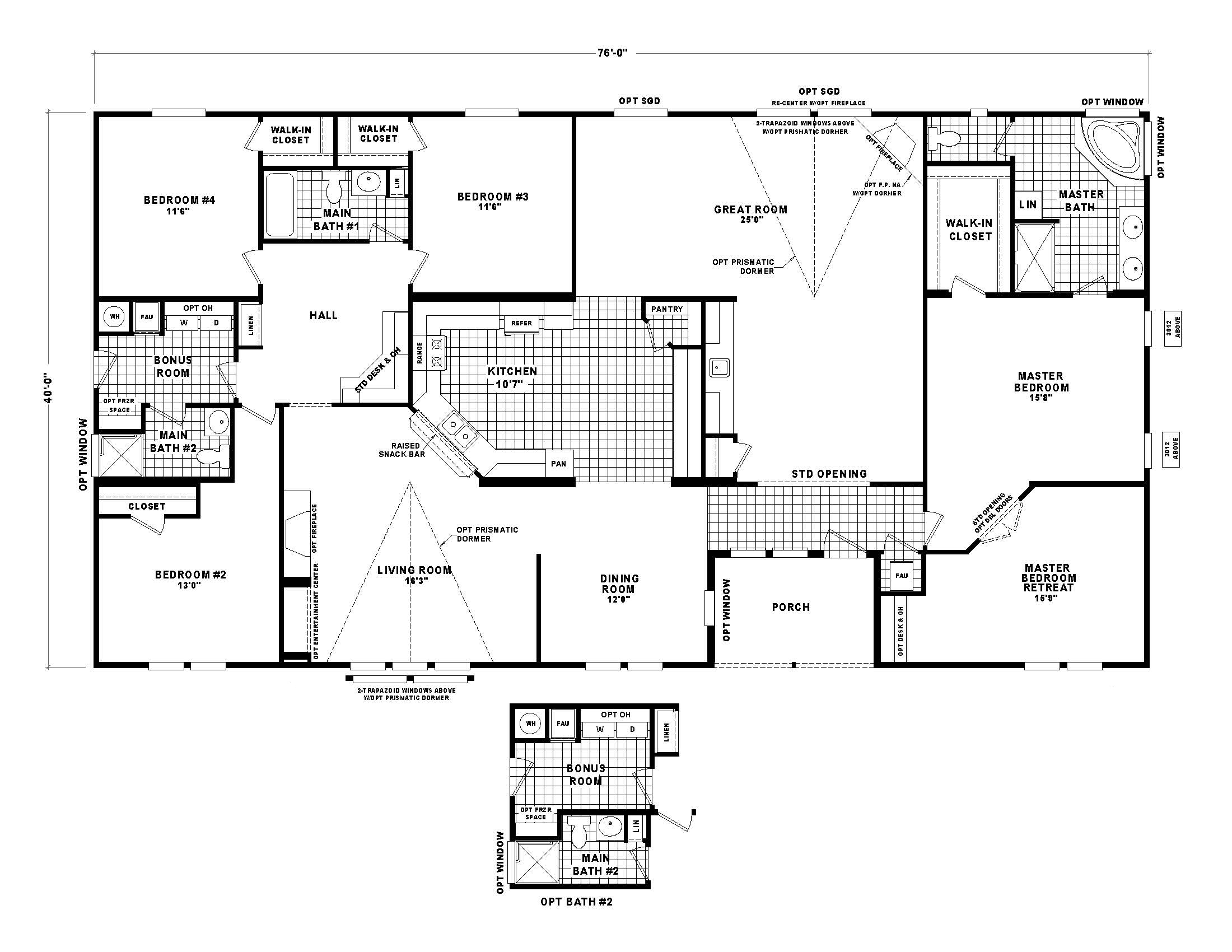 Floor plans manufactured housing industry of arizona for Arizona floor plans